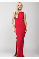Rochie lunga cu spatele gol rosie