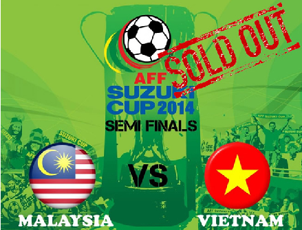 Tiket 'Online' Malaysia Vs Vietnam sold out