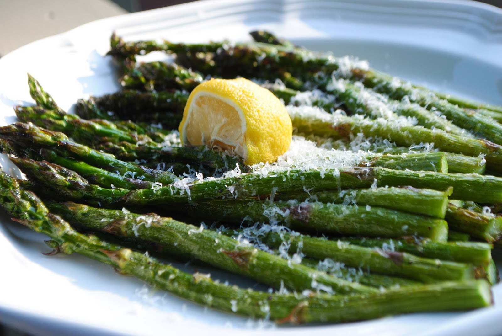 Roasted Asparagus with Lemon and Parmesan | The Enchanted Spoon
