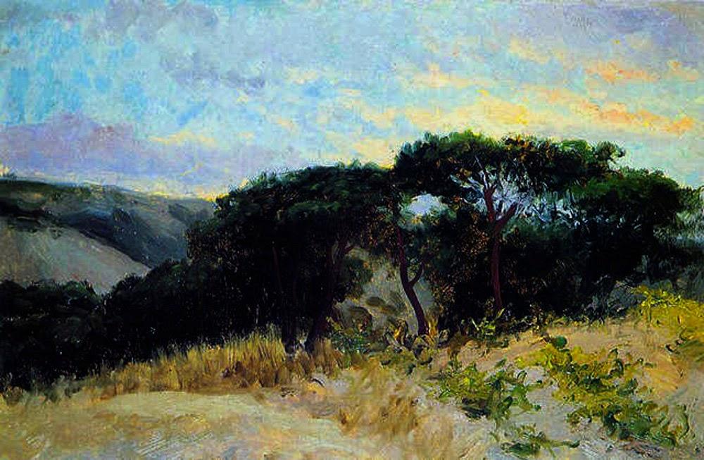 Atardecer en el pinar, Joaquín sorolla, retratos