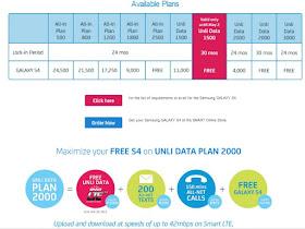 Smart Samsung Galaxy S4 postpaid pricing