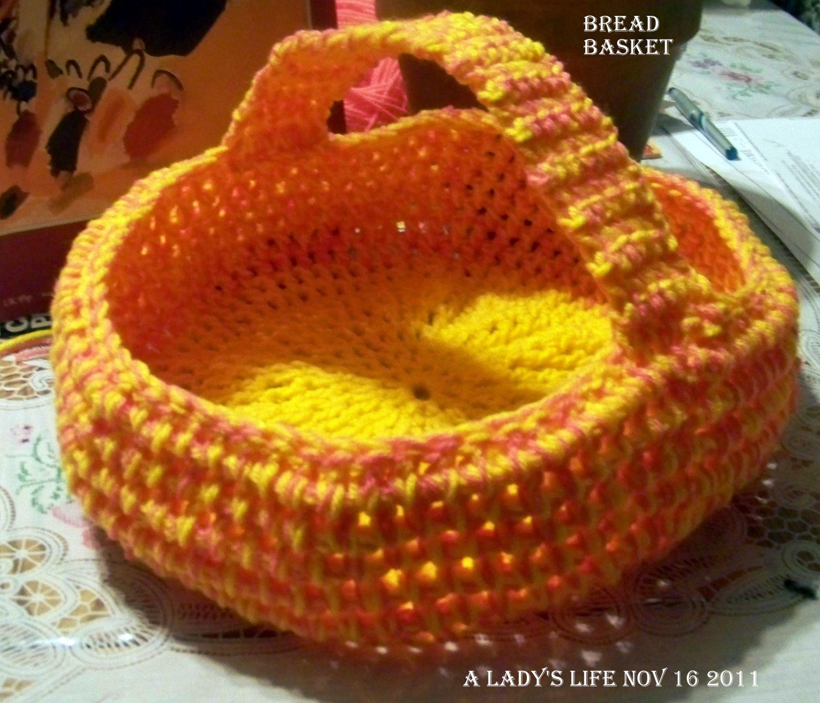 A Ladys Life...: Crochet Bread Basket