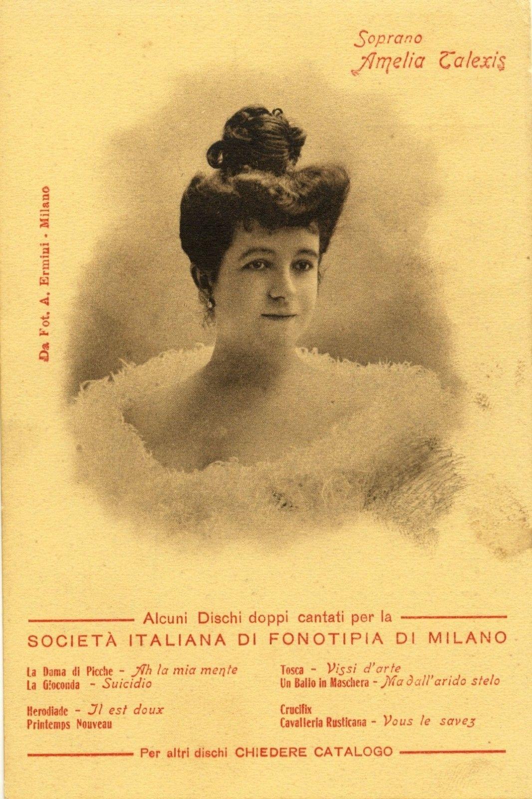 FRENCH SOPRANO AMELIA TALEXIS (1875-1911) CD