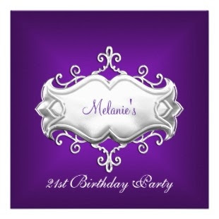 cheap puple wedding invitations