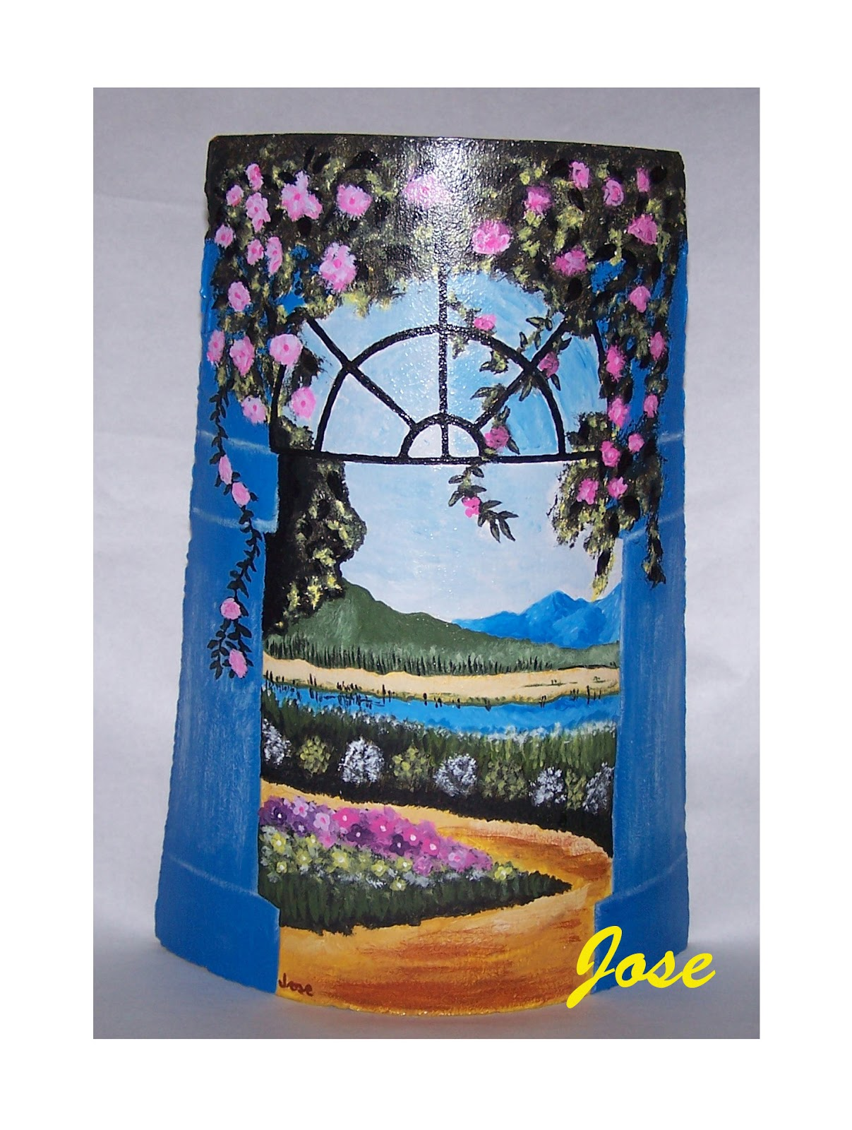 Los hobbies de jose mi primer paisaje - Pintura para tejas ...