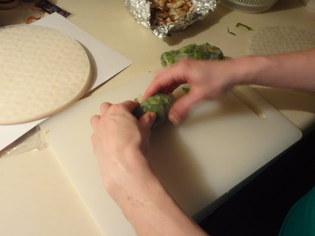 rolling up a fresh roll