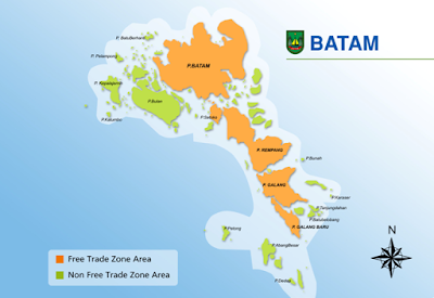 Batam Trade Zone Map