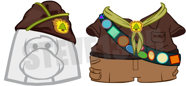 Club Penguin Upcoming Unreleased Puffle Party 2015 Items: Puffle Guide Hat and Outfit
