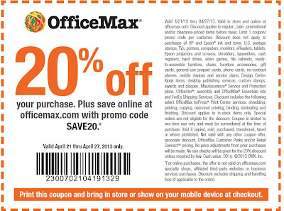 Office depot coupons codes july 2018