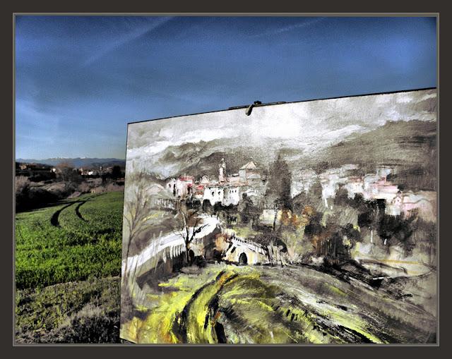 Ernest descals artista pintor navas pintura bages barcelona panoramicas primavera paisaje luz - Pintores de barcelona ...