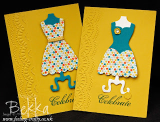 Simple Sale-a-Bration Dress Up Cards by Stampin' Up! Demonstrator Bekka Prideaux - you can get everything you need for these cards from her