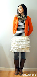 Ruffled skirt out of T shirts