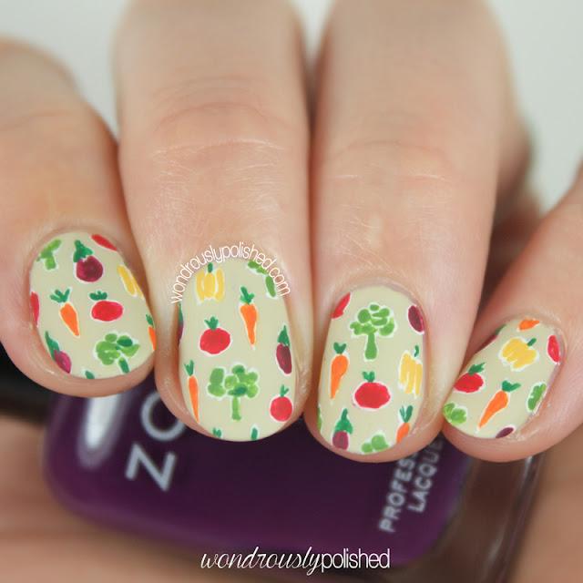 vegetable nail art