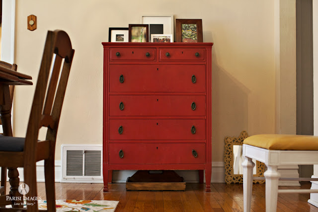 this beautiful life blog antique_red_dresser_chicago_bungalow_style