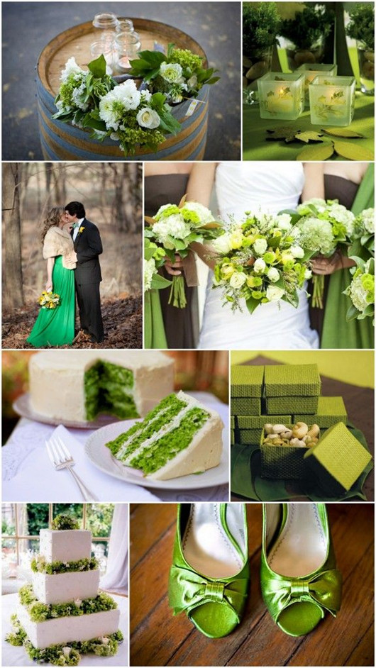 Fall Green Wedding Theme Color