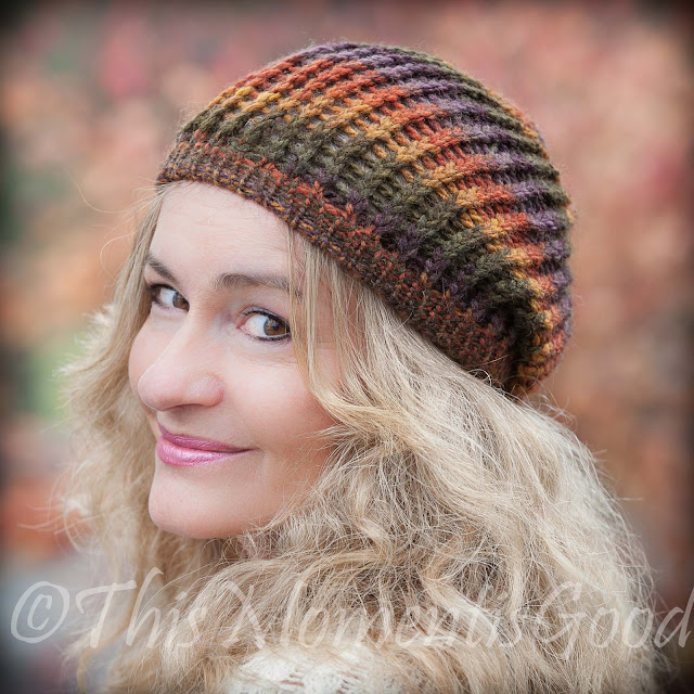 Loom Knit Hat Patterns Free : Loom Knitting by This Moment is Good!: LOOM KNIT HARVEST BEANIE