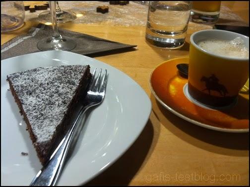 Schokoladentarte mit Espresso