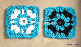Swirls and Sprinkles: Free crochet granny square pattern