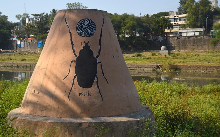 Pune Street Art Project Mural Kasba Peth Drift