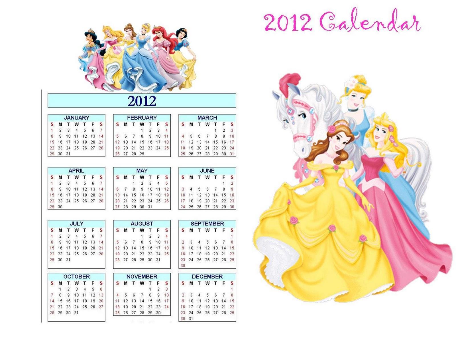 Calendar Disney : Printable disney calendar for kids how to make your own