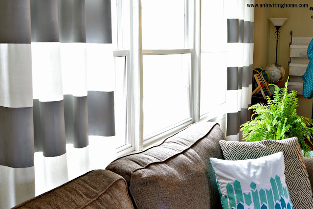 DIY striped curtains