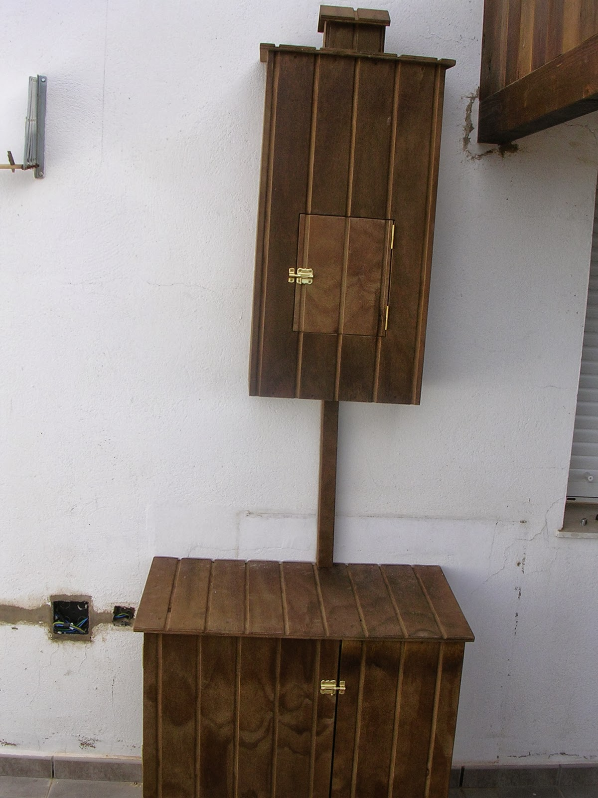 Las virutas de dani mueble para calentador y bombona para exterior - Armario calentador gas exterior ...