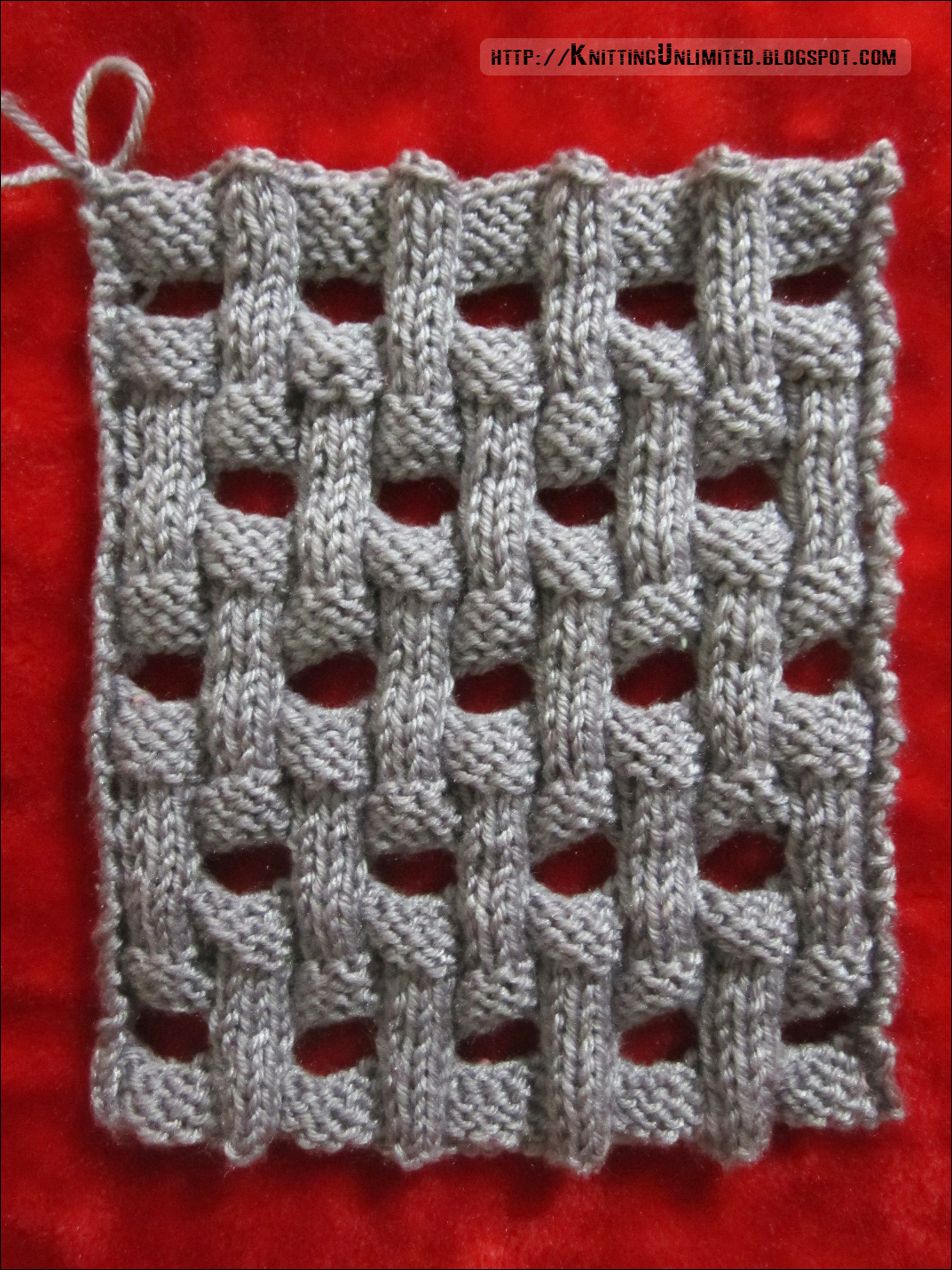 Openwork basket weave is a wonderful knitting stitch pattern