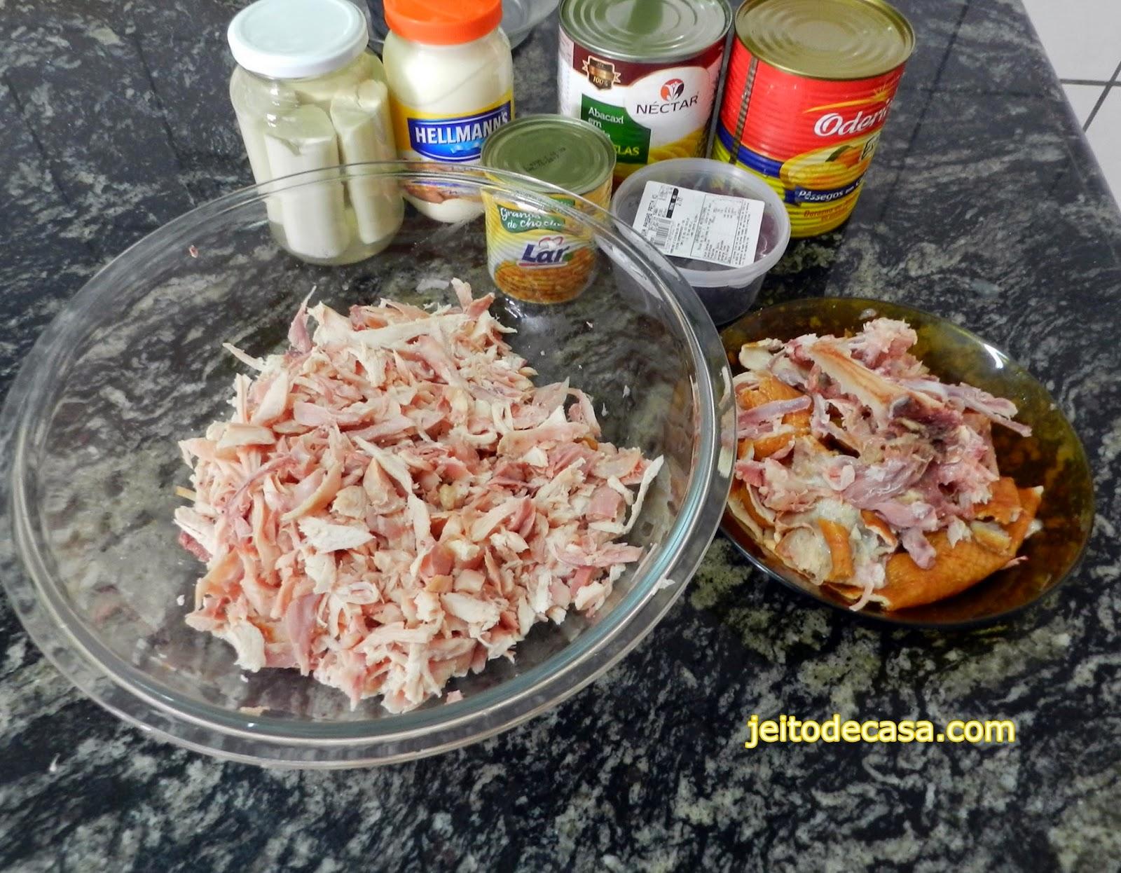 frango defumado para salada tropical