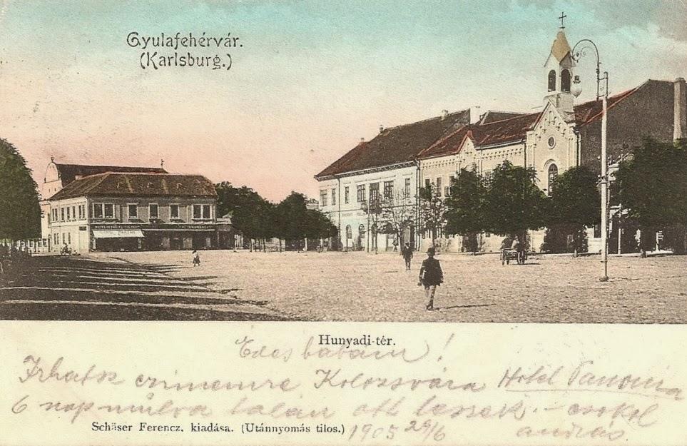 Piata Hunyade din Alba Iulia