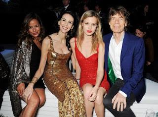 Jade, Elizabeth dan Georgia May Jagger - puteri-puteri dari Mick Jagger