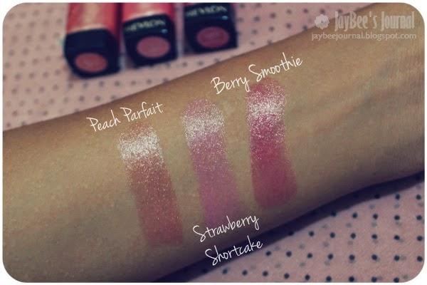 Revlon Strawberry Shortcake, Peach Parfait & Berry Smoothie Lip Butters Swatches Review Pakistan, Pakistani Beauty and Nail art blog