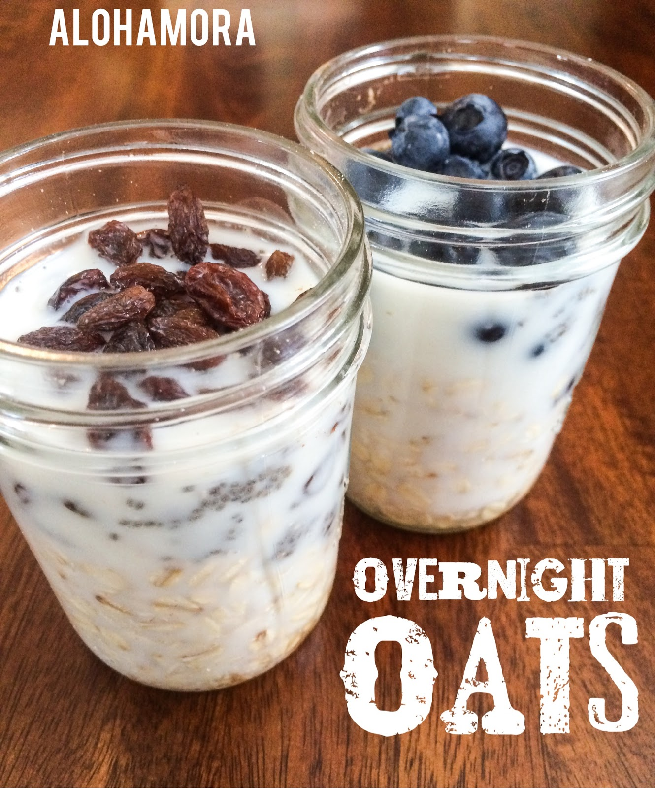 Overnight Oats is healthy, filling, and an easy to go breakfast when you are rushing out the door.   Oatmeal, fruit, almond milk, and a touch of yumminess.  It's delicious,  and my husbands go to breakfast to eat at work.  Alohamora Open a Book http://www.alohamoraopenabook.blogspot.com/