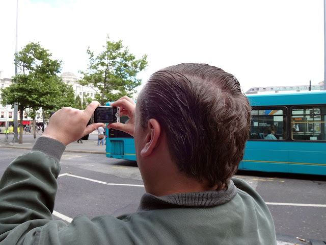 The bald spot at Picadilly Gardens.