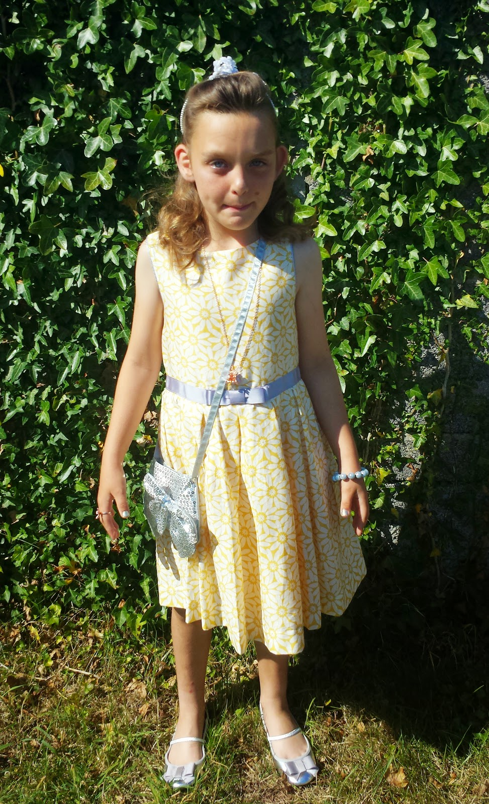 Rebecca Big Brownie Birthday 100 Ball M&S Yellow Floral Dress Style Fashion