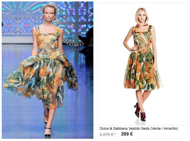 Dolce & Gabanna pasarela y promoción en Style de Luxe Amazon Buy-Vip nov 2015