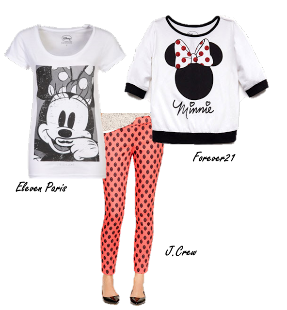 Minnie Mouse, J. Crew, Eleven Paris, Forever21 t-shirt