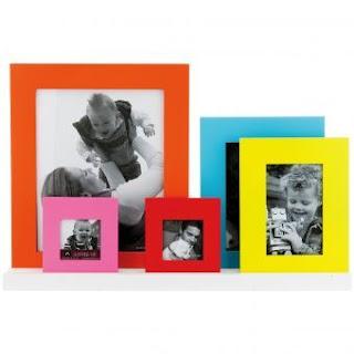 bingkai foto keluarga 5 buah aneka warna bahan plastik untuk 5 foto ...
