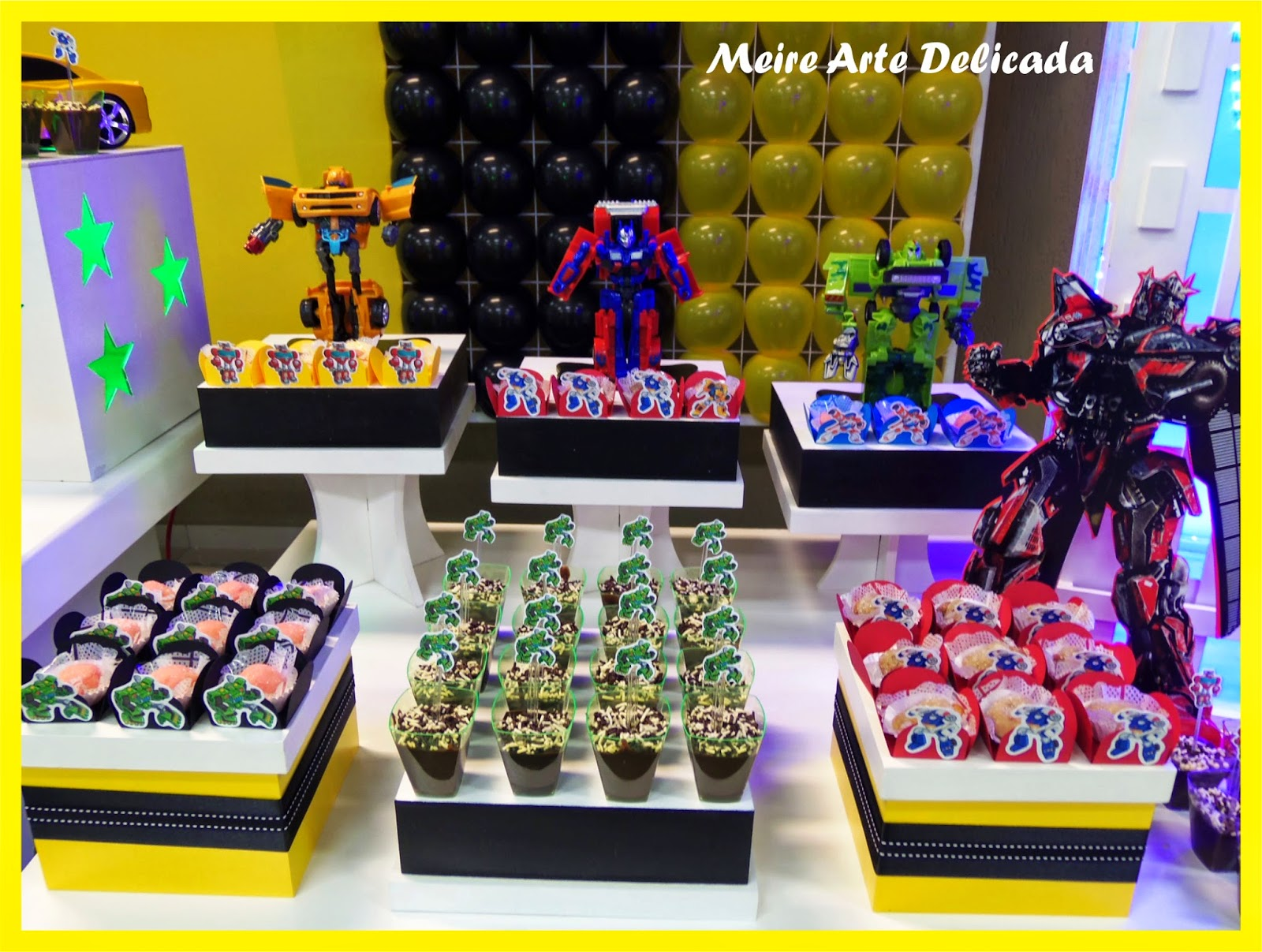 Decoração de Festa infantil Clean  Provençal dos Transformers em
