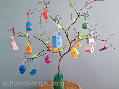 Ashbee design easter egg tree for little ones How to make an easter egg tree