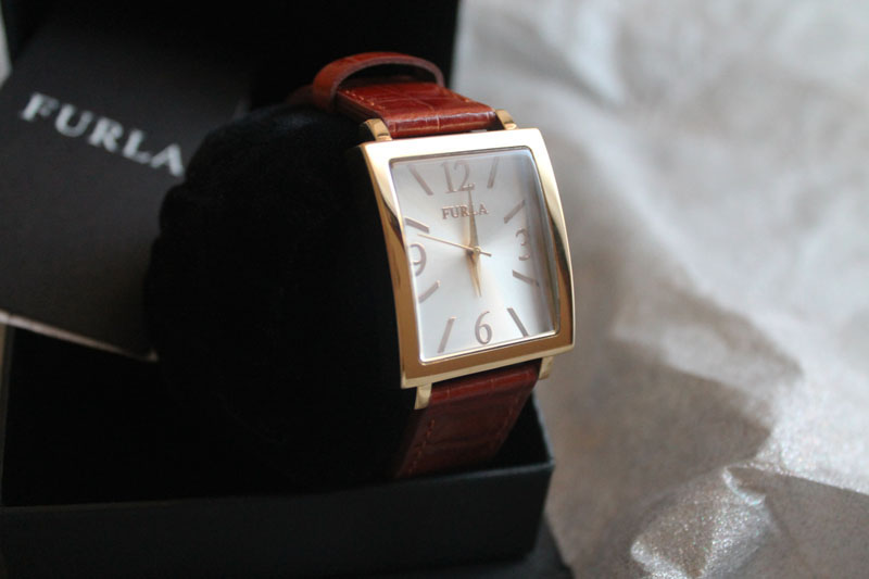 Furla watch, classic, real leather, elegance, glamour, style, fashion