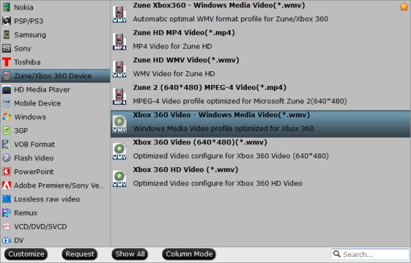 Xbox One WMV format