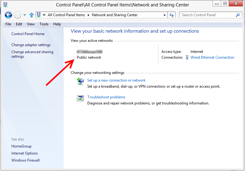 how to change network location on windows 7