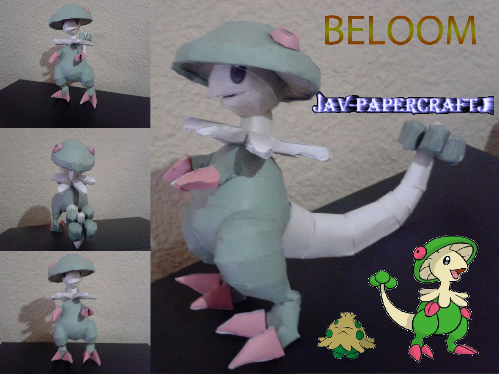 Pokemon Breloom Paper Model