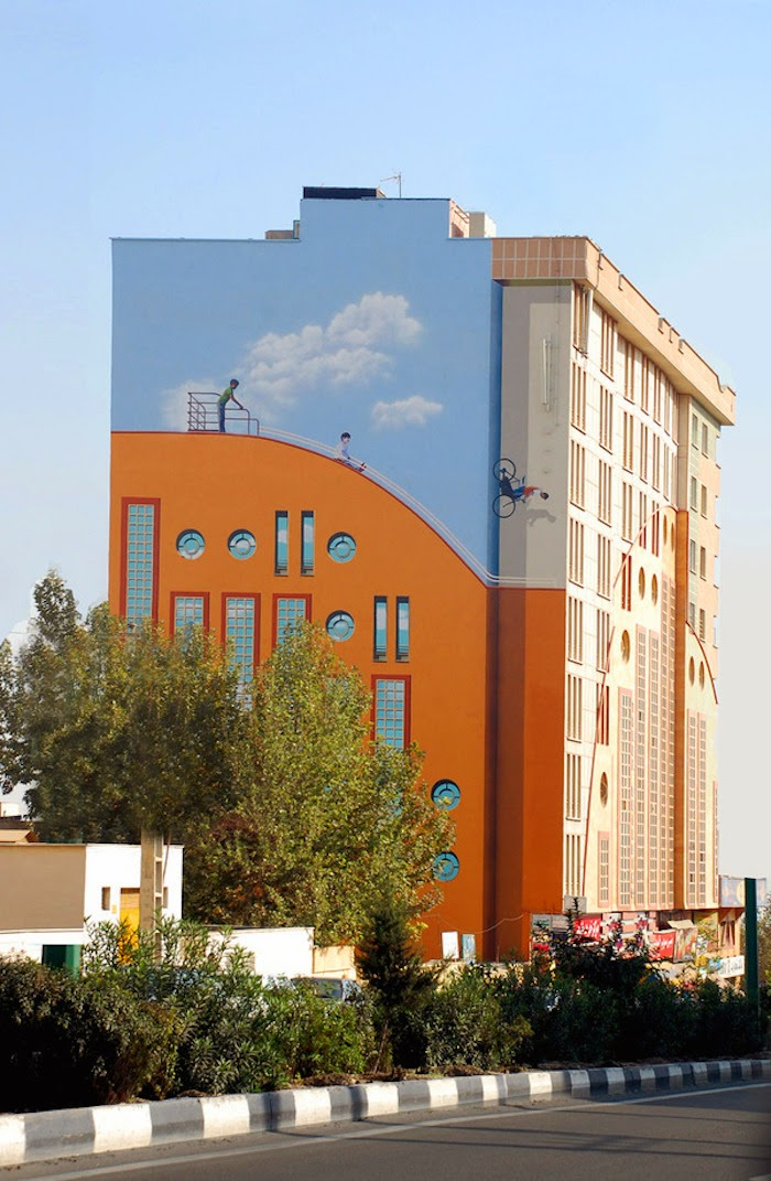 Murales en los edificios de Teheran 19