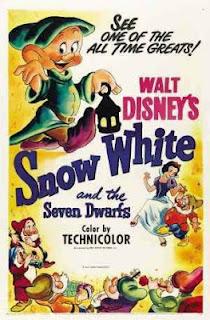 Cartaz original do filme animado da Disney Branca de Neve e os Sete Anões