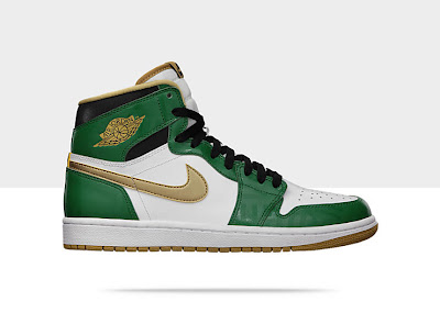 Air Jordan 1 Retro High OG Men's Shoe Green/Gold, Style - Color # 555088-315