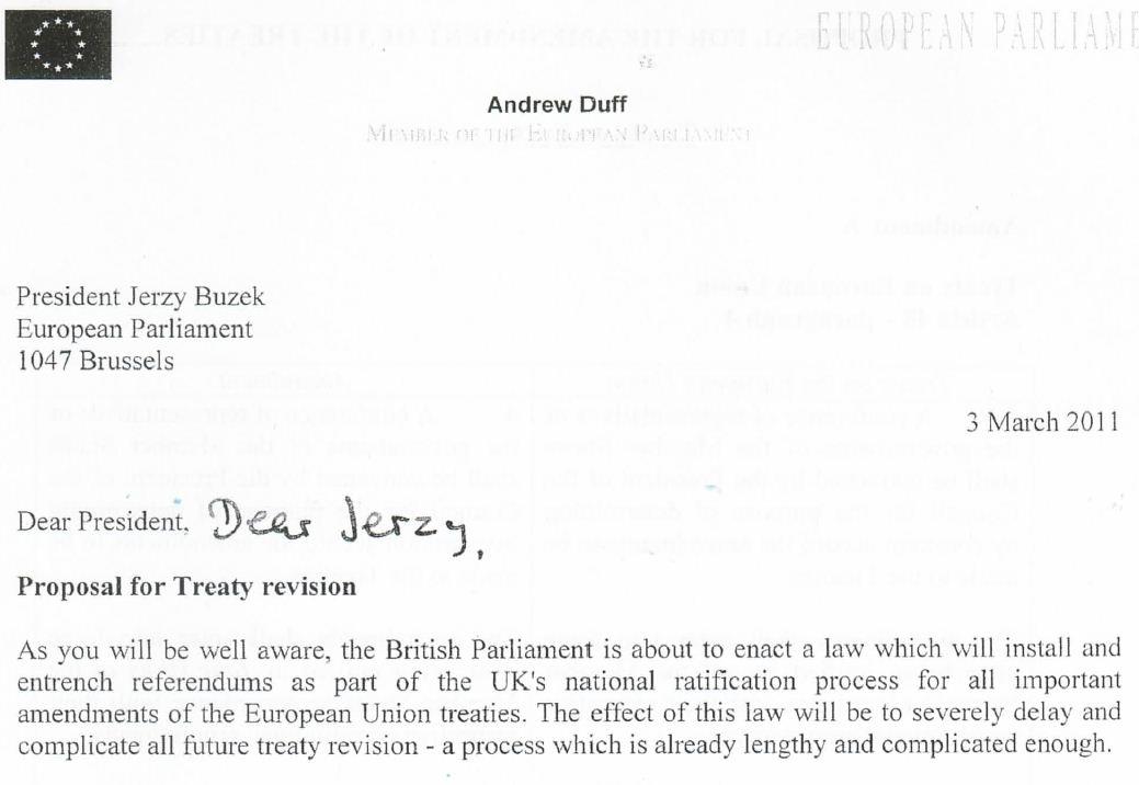 Cranmer Libdem Mep Andrew Duff Plots Treason
