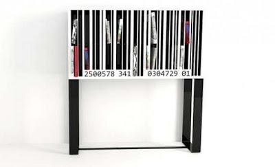 librero estilo codigo de barras