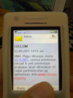 cukai perkhidmatan 6 peratus,caj perkhidmatan telco