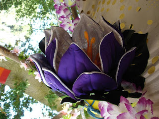 Lotus flower in fabric made by E Rigby